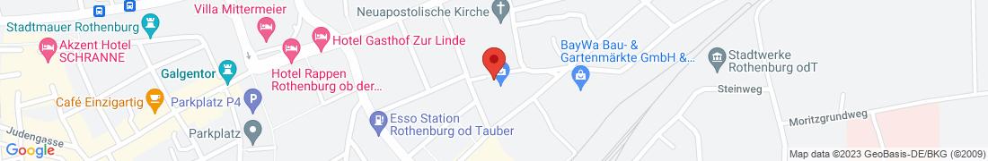 BayWa Baustoffe Rothenburg O.d.T. Anfahrt