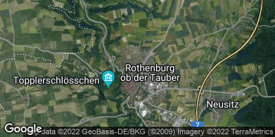 Google Map of Rothenburg ob der Tauber