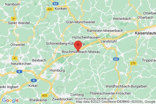 Karte Bruchmühlbach-Miesau