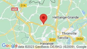 Carte de localisation du centre de contrôle technique ANGEVILLERS