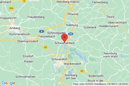 Karte Schwarzenfeld