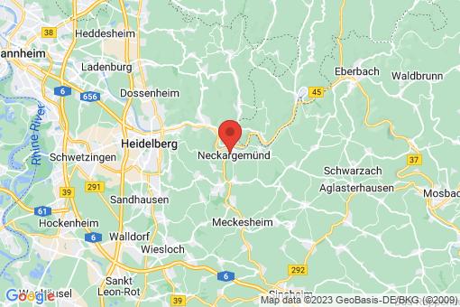 Karte Neckargemünd