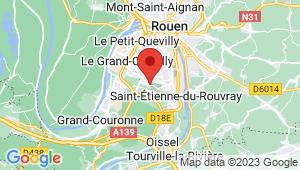 Carte de localisation du centre de contrôle technique SAINT ETIENNE DU ROUVRAY