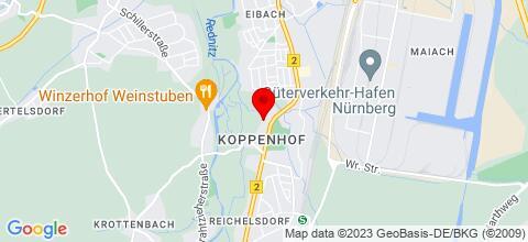 Google Map für Appartment / Monteurunterkunft NOA