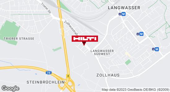 Wegbeschreibung zu Hilti Store Nürnberg