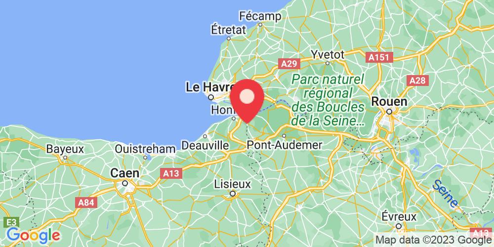 Carte du positionnement du camping Domaine de la Catinière