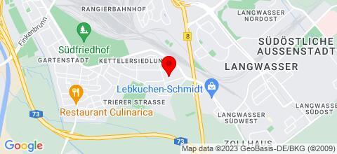 Google Map für Ferienwohnung Apartment Hirschmann in Messenähe