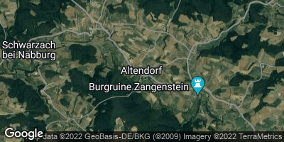Google Map of Altendorf bei Nabburg