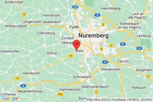 Karte Stein bei Nürnberg