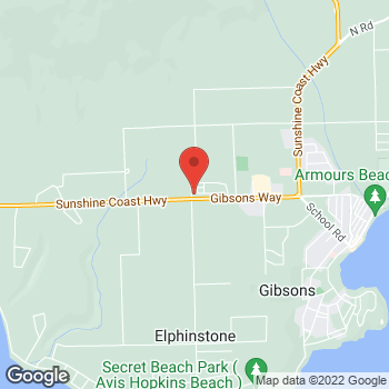 Map of Tim Hortons at 1078 Sunshine Coast Highway, Gibsons, BC V0N 1V0