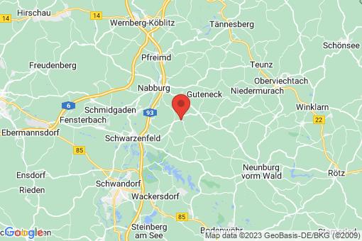 Karte Schwarzach bei Nabburg