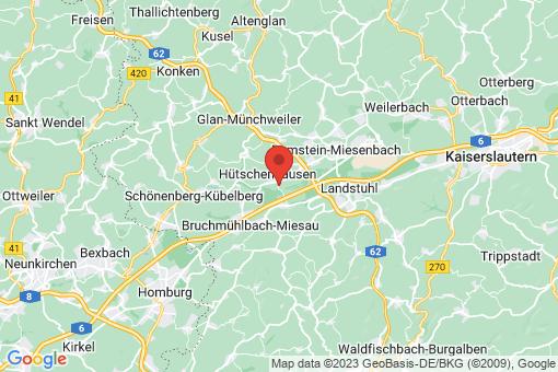 Karte Hütschenhausen
