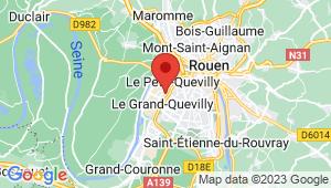 Carte de localisation du centre de contrôle technique LE GRAND QUEVILLY