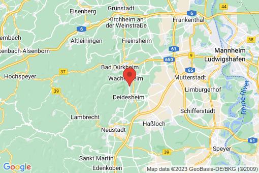 Karte Forst an der Weinstraße