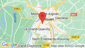 Carte de localisation du centre de contrôle technique Le Petit-Quevilly