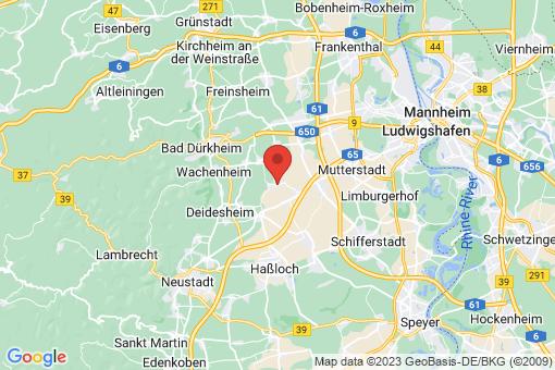 Karte Rödersheim-Gronau