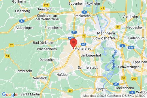 Karte Dannstadt-Schauernheim