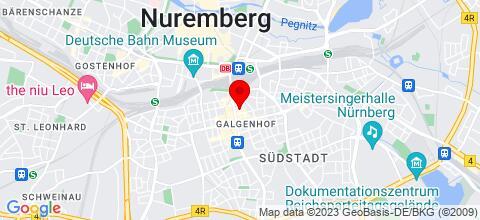 Google Map für Ferienwohnung Southside