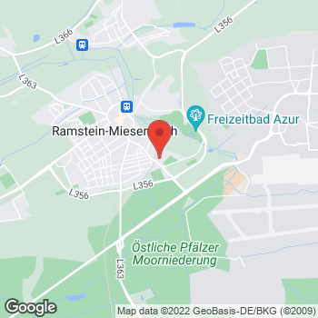Map of Car Hire in Ramstein - InterRent at Kindsbacherstr. 39a, Ramstein,  66887