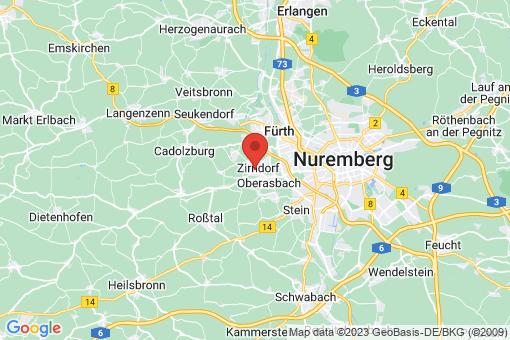 Karte Zirndorf