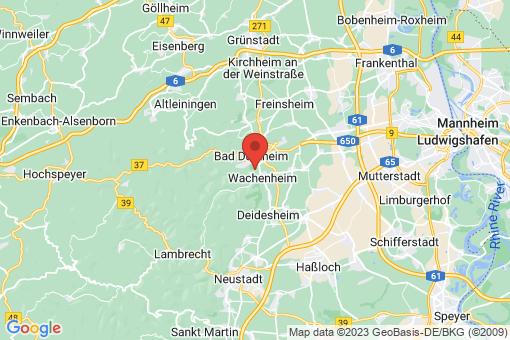 Karte Wachenheim an der Weinstraße