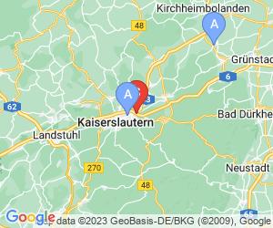 Karte für Planet Bowling Kaiserslautern