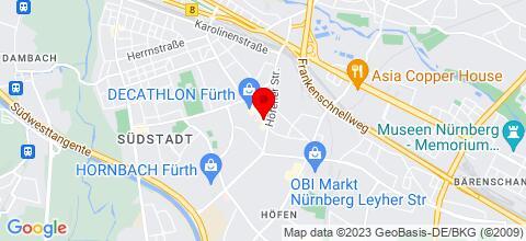 Google Map für Pension Bukarest