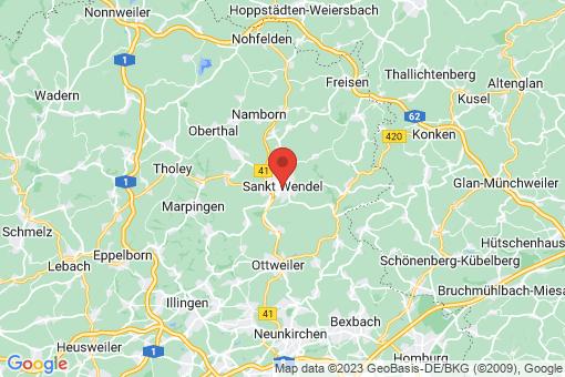 Karte Sankt Wendel
