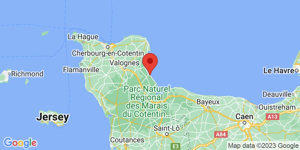 Carte du positionnement du camping Camping Le Cormoran