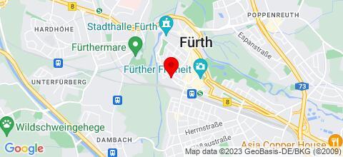 Google Map für Apartment  An Der Veste