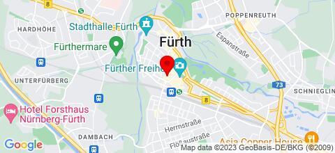 Google Map für City Apartment Fürth Innenstadt
