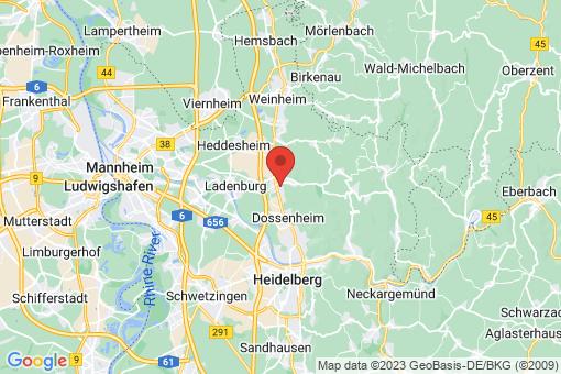 Karte Schriesheim