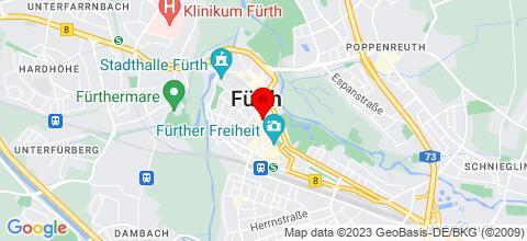 Google Map für Monteurwohnung Fürth