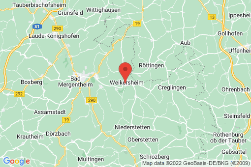 Karte Weikersheim