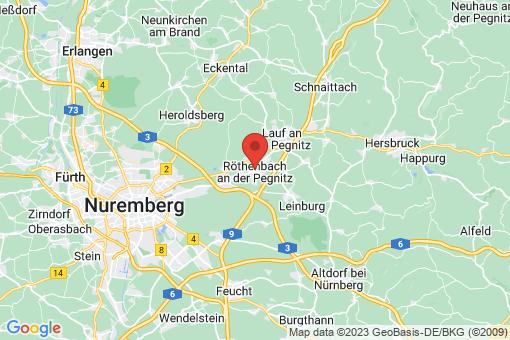Karte Röthenbach an der Pegnitz