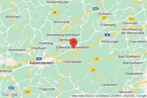 Karte Enkenbach-Alsenborn