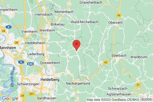Karte Heiligkreuzsteinach
