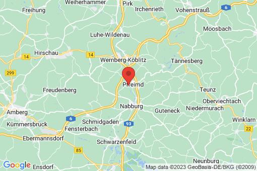 Karte Pfreimd Untersteinbach