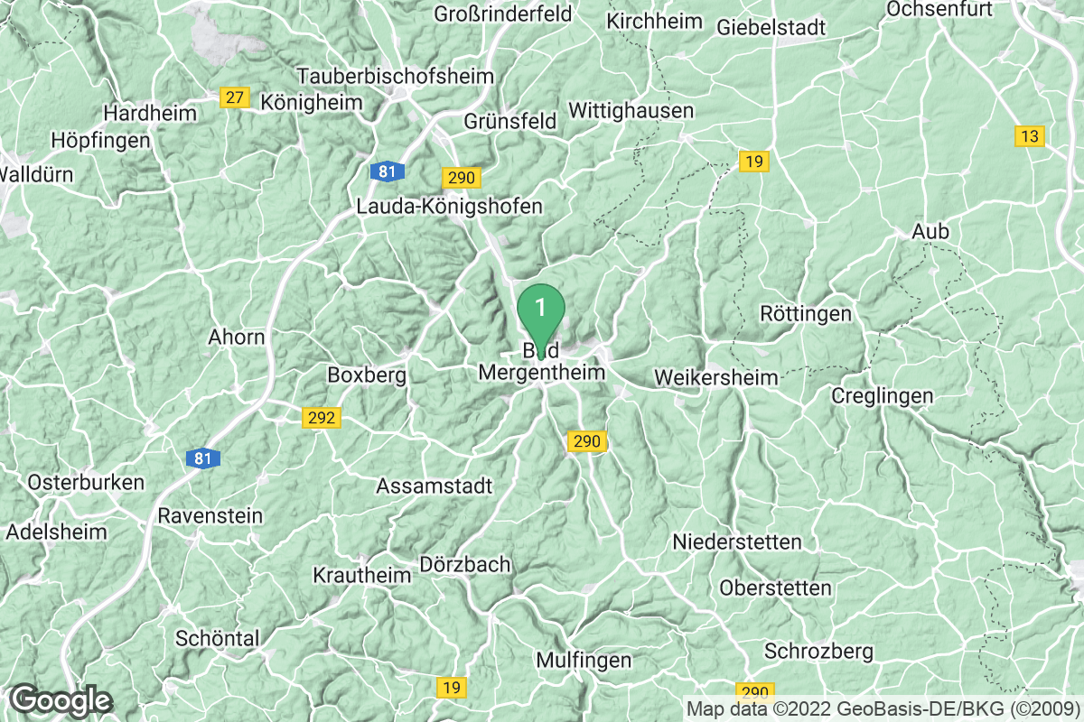 Google Map of Bad Mergentheim