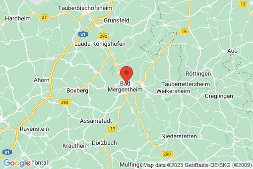 Karte Bad Mergentheim