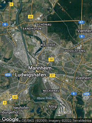 Google Map of Mannheim