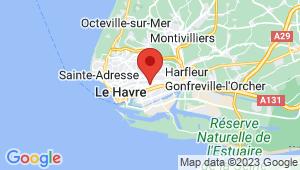 Carte de localisation du centre de contrôle technique LE HAVRE