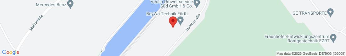 BayWa Tankstelle Fuerth Anfahrt