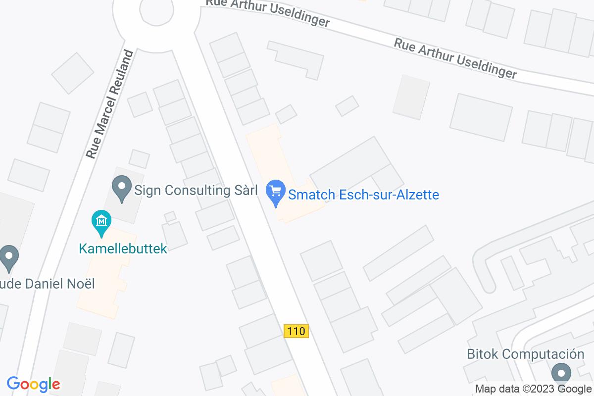 situation du Smatch Esch Sur Alzette