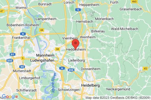 Karte Heddesheim