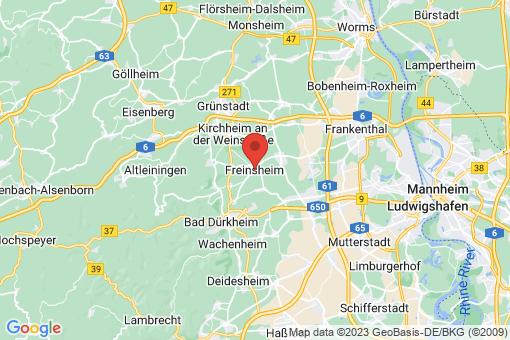 Karte Freinsheim