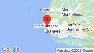 Carte de localisation du centre de contrôle technique SAINTE ADRESSE