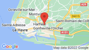 Carte de localisation du centre de contrôle technique GONFREVILLE L ORCHER