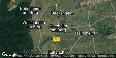 Google Map of Herxheim am Berg
