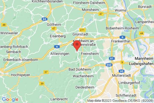 Karte Weisenheim am Berg